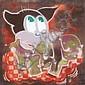 RCF1 (1968)What's my name ? (2004).Aérosol sur toile.Signé et daté au dos.90 x 90 cm.
