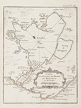 BELLIN   Carte des étangs de Berre, de Martigues et environs. Gravure, circa 1760.   21 x 16,5 cm.