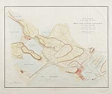 ANON Plan géométral du pays compris entre le Port de Bouc, Fos, l'Etang de Lavalduc et la Commune des Martigues, sur lequel sont tracés le canal royal d'Arles à Bouc et le projet de communication de ce canal avec l'Etablissement de Plan d'Aren. Lith.