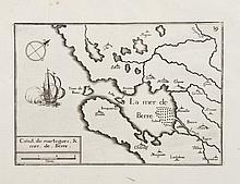 TASSIN   Canal de Martègues et mer de Berre. Gravure, 1634. 10,5 x 15 cm.   P.Tassin VIII-3-13.