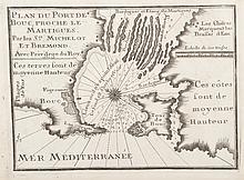 MICHELOT BREMOND   Plan du port de Bouc proche le Martigues. Gravure, 1730. 17,5 x 25 cm.