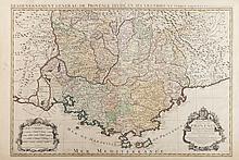 SANSON JAILLOT Le Gouvernement général de Provence, divisé en ses Vigueries et terres adjacentes par le Sr SANSON.... Présenté à Mgr le Marquis de Seignelay et Lonré... Par Hubert Jaillot 1692. Chez H. Jaillot... Deux cartouches (titre et échelle).