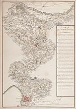 ALDRING Carte du canal de Provence destiné à arroser les environs d'Aix et de Marseille et les terroirs de tous les lieux intermédiaires depuis la prise d'eau jusqu'à la Mer. Aldring sculps. Fond de carte repris de la carte de Cassini. Très belle