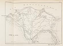 TALABOT Canal de Suez par M. Paulin Talabot (Revue des Deux Mondes) Paris Imp. J. Claye 1855. Avec une carte rempliée : Carte du Delta du Nil et du canal de Suez entre Alexandrie, Le Caire et la Mer Rouge. Gravé chez F. Delamare. 31 x 21 cm. (un des
