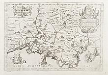 CAPUCINS Max a GUCHEN   Provincia S. Ludovici vel Provinciae cum confinis. Roses. Navires. Gravure,   1643. 21 x 30,5 cm.