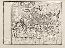 DE FER Marseille, ville considérable de Provence, fameux port sur la la mer Méditerranée. A Paris chez l'Auteur... 1705. 31 renvois. Plan-copie à petite échelle établi à partir du grand plan Razaud / Visscher. Gravure, 1705. 22,5 x 30,5 cm. MVF 18