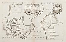 CORONELLI   Citadella di Marseglia... dal Cosmografo Coronelli.... All'... Alvise Ruzini...   Blason. Montre l'entrée du port avec les forts St Jean et St Nicolas.   Gravure, circa 1690. 27 x 44 cm.