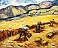 RENÉ SEYSSAUD (1867-1952)   Les Moissonneurs. Circa 1898.   Huile sur toile.   Signée en bas à droite.   47,5 x 56 cm.      Bibliographie :   Pierre Martin-Caille, Seyssaud, ed. Martin-Caille, 1962,   reproduit planche 46.