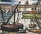 LOUIS MATHIEU VERDILHAN (1875-1928)   Le Vieux-Port de Marseille.   Huile sur toile.   Signée en bas à gauche.   65 x 54 cm.
