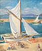 CHARLES CAMOIN (1879-1965)   Tartanes à Saint-Tropez. Circa 1925.   Huile sur toile.   Signée en bas à droite.   65 x 54 cm.