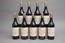 9 bouteilles CHÂTEAU HAUT BRION (e.t.h. légères) 1989 GCC1 Graves