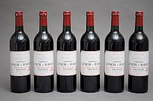 6 bouteilles CHÂTEAU LYNCH BAGES 2000 GCC5 Pauillac