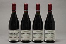 4 bouteilles ROMANEE ST VIVANT (Grand Cru) 1 à 1,5; 1 à 2,4; 1 e.l.s; 1 c.s.légèrement sale sommet; 1 légèrement suinteuse 1989 Dne de la Romanée Conti