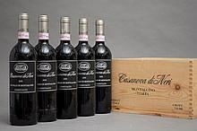 5 bouteilles BRUNELLO DI MONTALCINO CASANOVA DI NERI 2001 Cerretalto