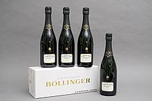 4 bouteilles CHAMPAGNE GRANDE ANNEE (Coffrets sales) 1999 Bollinger