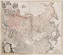 Plan de l'Empire russe et de la Tatarie, surmonté d'un