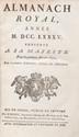 [almanach] - Almanach Royal, Année 1785 présenté à sa Majesté pour sa première fois en 1699.