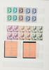France :  timbres-poste neufs sans charnière,  années 1943-1944 par multiples en  séries complètes, dans un classeur.