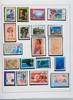 dom tom, Viêt-nam :  timbres-poste neufs et oblitérés dans un  classeur.