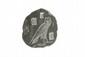 MODÈLE DE SCRIBE  En granit gravé d'une chouette (signe M) et de signes divers.  Egypte.  Nouvel Empire.  H. : 10 cm.