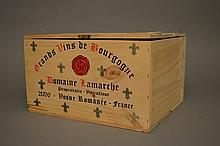 6 bouteilles CLOS DE VOUGEOT (Grand Cru) Caisse Bois 2000 Lamarche