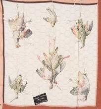 HERMES PARIS,  Carré en soie imprimé, titré « tableau