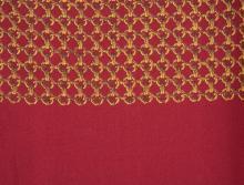 HERMES PARIS  Echarpe en soie imprimée rouge