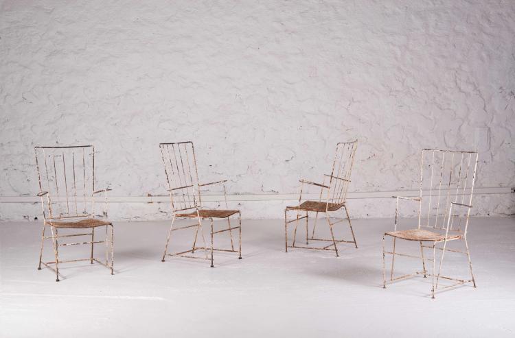 TRAVAIL FRANCAIS Suite de 4 fauteuils