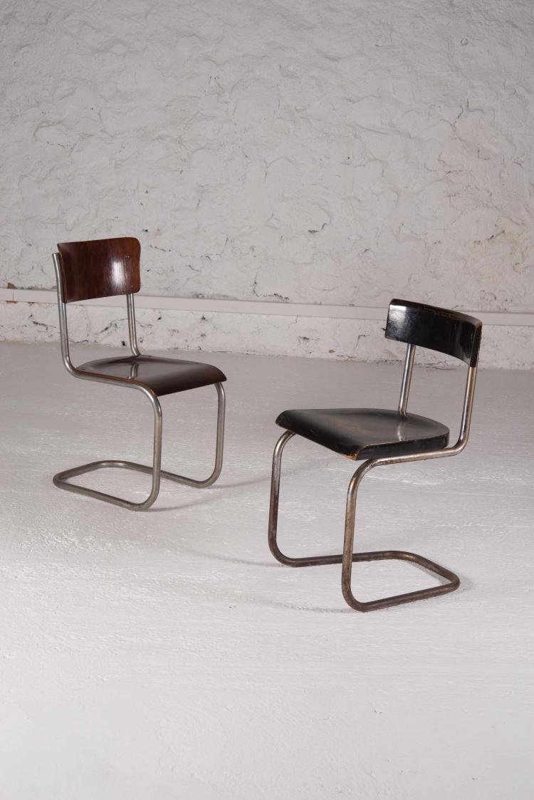 MART STAM (1899-1986) Suite de 2 chaises