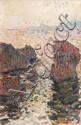 Jean-Jacques ROQUE (1880-1926)Rochers en mer.Huile sur toile.Signée en bas droite.74 x 50 cm.