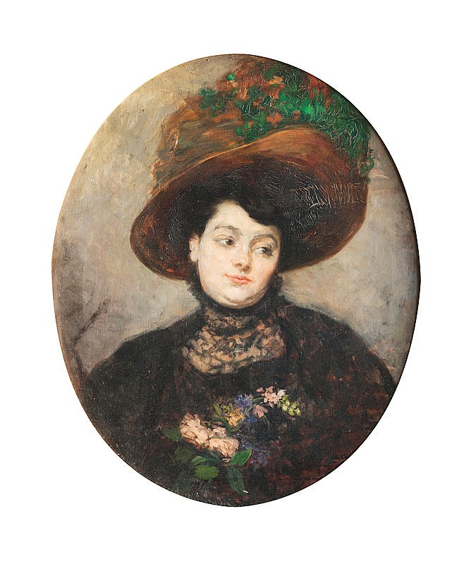 Pierre GOURDAULT (1880-1915)Portrait d'Anastasie Prudence MarieMARTIN, épouse de l'artiste.Huile sur toile. 74 x 62 cm.Un certificat de la petite fille del'artiste sera donné à l'acquéreur.