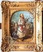 Auguste LAMY (XIX)Saltimbanque et son singe.Huile sur carton.Signée et datée 1853 en bas à droite.31,7 x 24,5 cm.Exposition : Les peintres et sculpteursprovençaux 1880 - 1950, Fondation PaulRicard du 11 octobre au 1 décembre1974,