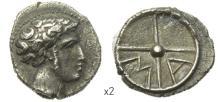 MASSALIA -  argent à la tête d?Apollon à dr. avec