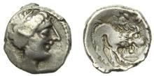 CELTO-LIGURES - Un autre exemplaire: Imitation de la drachme de Marseille. Drachme