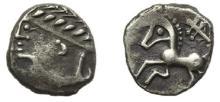 ALLOBROGES-DAUPHINE - Drachme argent au profil stylisé et au cheval libre à