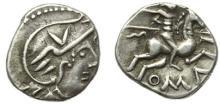 ALLOBROGES-DAUPHINE - Denier argent au cavalier. 2,19 gr.