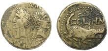 NEMAUSUS - Auguste et Agrippa. 44-10 Av. JC.