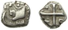 VOLQUES TECTOSAGES-TOULOUSE - Un autre exemplaire: Drachme argent « à la tête cubiste ». 2,76 gr.