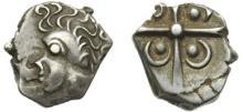 VOLQUES TECTOSAGES-TOULOUSE - Drachme argent « à la tête négroïde ». 2,48 gr.