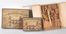 Jeux divers dont : jeu de la Pagode, jeu du Castor, constructions de ponts, Architecture Parisienne.