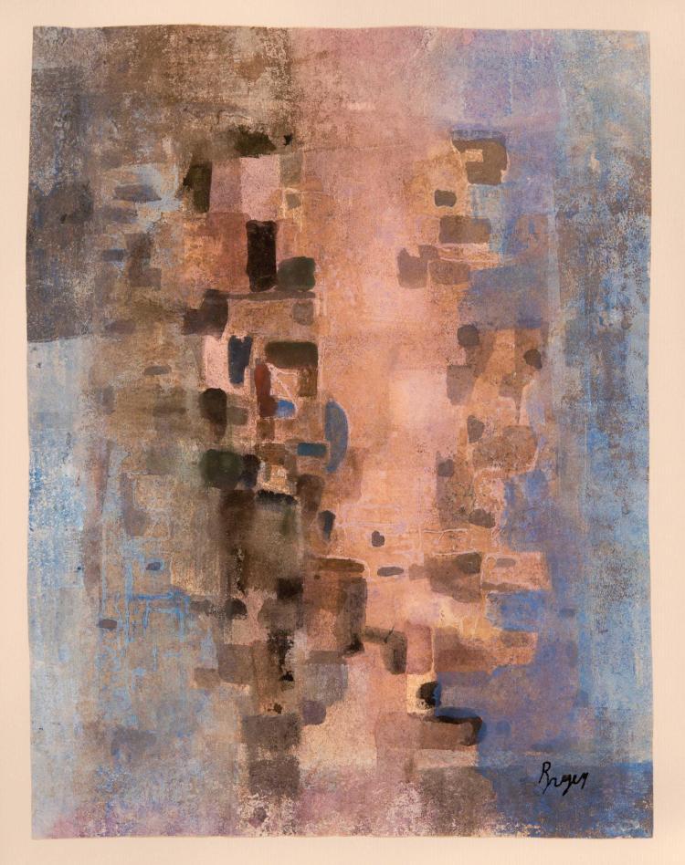 CAMILLE BRYEN (FRA/1907-1977) Composition, ca. 1960 Aquarelle sur papier 30 x 20 cm (a vue)