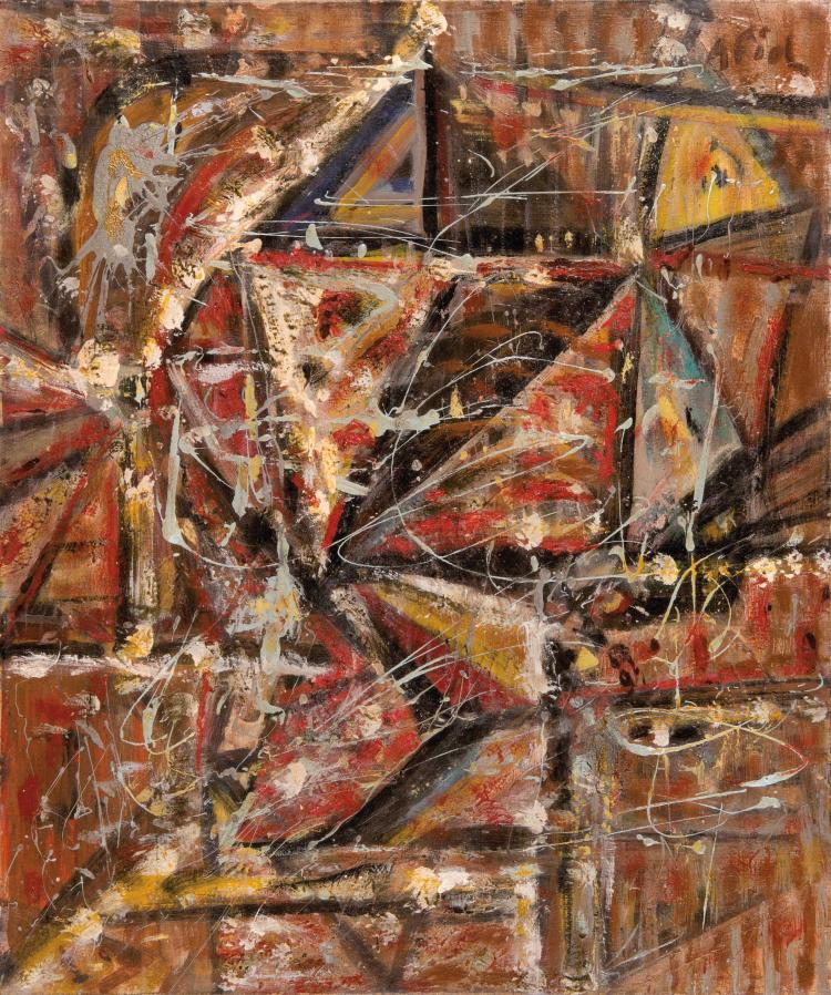 ANDRE FIOL (FRA/1915-1999) Sans titre, ca. 1950 Huile sur toile 65 x 54 cm Signee Oil on canvas 25 5/8 x 21 1/4 in Signed
