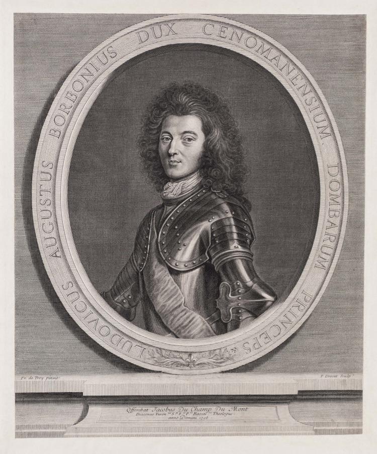 Pierre DREVET. Louis Auguste de Bourbon, prince de Dombes, duc du Maine.