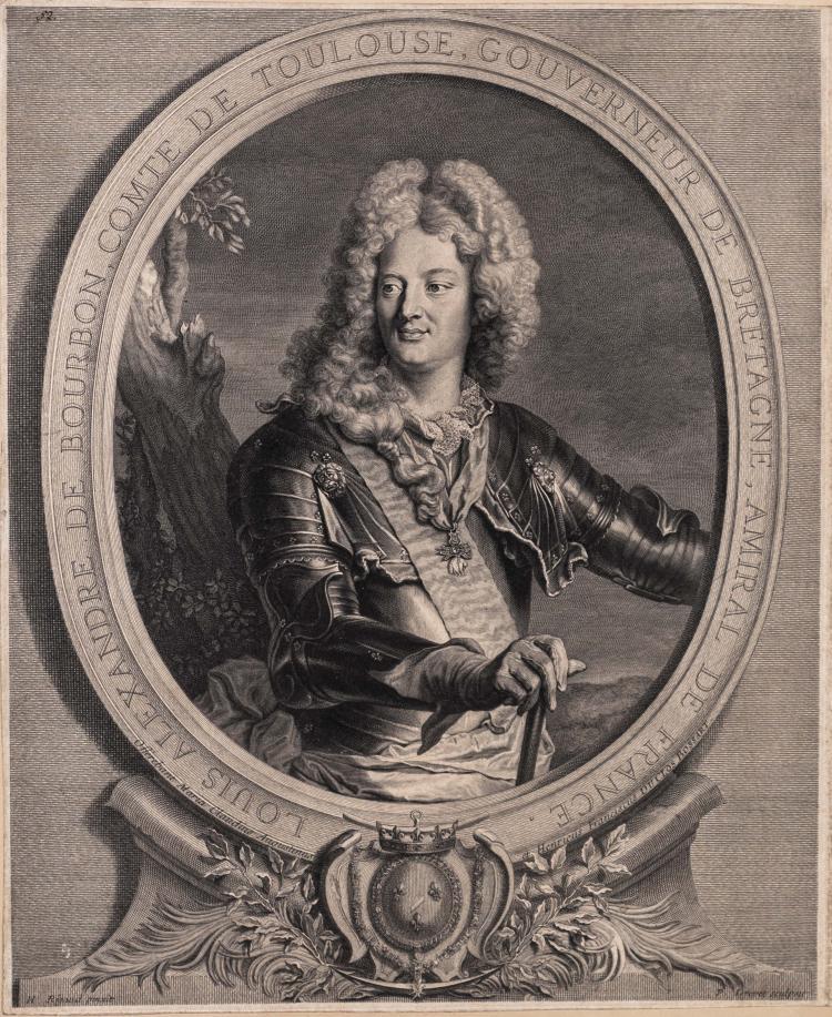 Pierre DREVET. Louis Alexandre de Bourbon, comte de Toulouse, gouverneur de Bretagne, amiral de France.