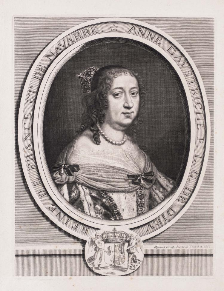 Robert NANTEUIL. Anne d' Autriche, reine de France et de Navarre.