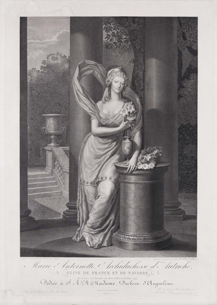 Pierre-Alexandre TARDIEU. Marie-Antoinette, archiduchesse d' Autriche, reine de France.