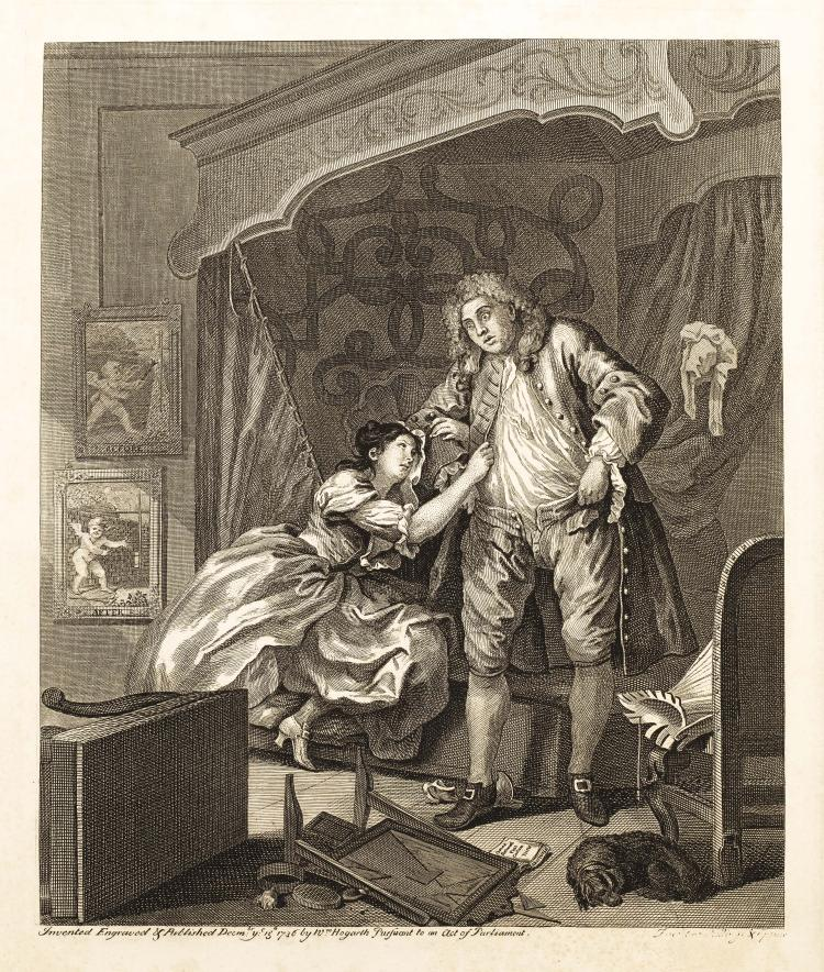 William HOGARTH. Avant ; Apres.