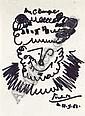 Pablo PICASSO (1881-1973) - Barbu.