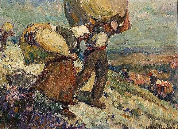Jean AUBERY (1880-?) - Les porteurs de ballots