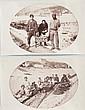ANONYME  Types de métiers niçois, c.1865.  Deux tirages albuminés montés sur  feuille d'album situés « Nice » à l'encre  sur le montage.  9.5 x 15 cm.